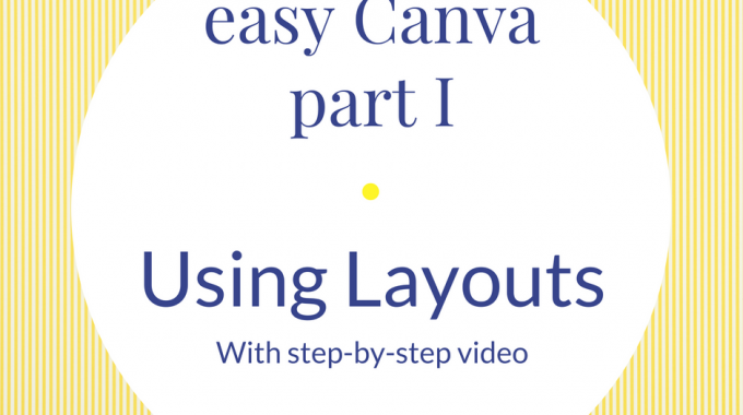 Easy Canva Part I - Using Canva's Layouts With Video