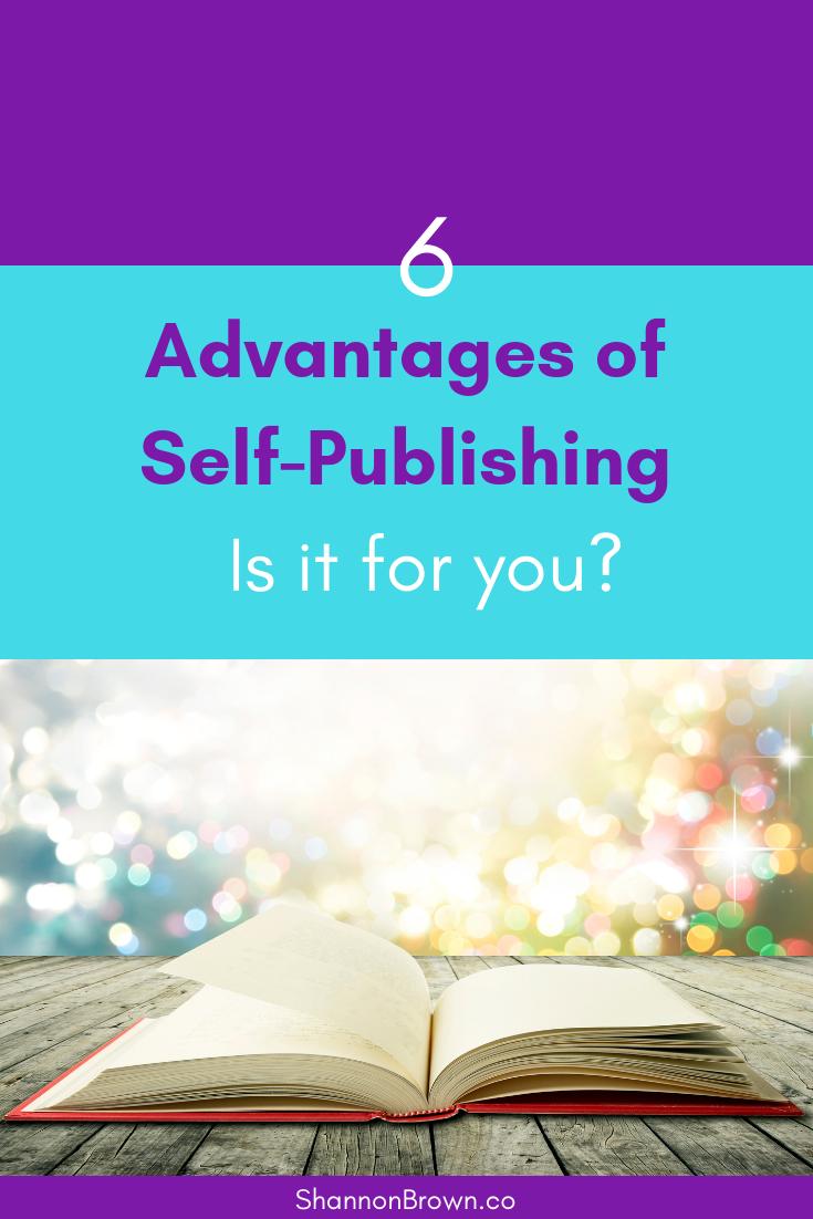 Advantages of Self-Publishing - Pinterest
